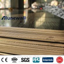 3 mm 0,3 mm 830 mm ancho cepillado negro ininterrumpido panel compuesto de aluminio ACP 85RMB / m2 20% de descuento