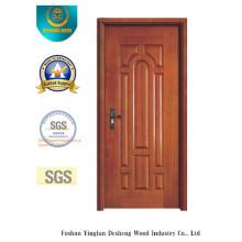Puerta estilo europeo MDF con madera maciza para la habitación (xcl-811)
