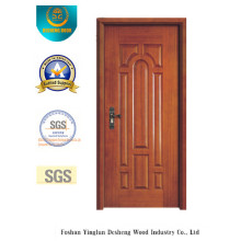 Porta de estilo europeu MDF com madeira maciça para quarto (xcl-811)