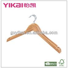 Natural bamboo shirt hangers