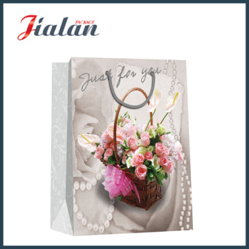 """""""Just for You"""" Flores Wedding Hand Shopping Gift Paper Bag"""