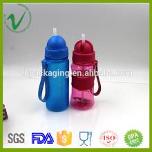 PCTG grado alimenticio transparente cilindro vacío 400ml botellas de agua reutilizables de plástico