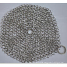 "304 7"" round Stainless Steel Cast Iron Cleaner Chainmail Scrubber"