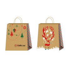 Recycled paper bag printed with tree
