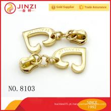 Acessório de vestuário de liga de zinco personalizado acessórios do saco do extrator do zipper & do zipper