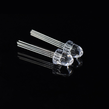 8mm RGB LED Bullet Top Clear Lens 10-graders