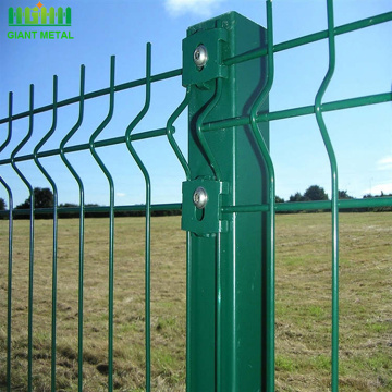 PE+coated+Galvanized+3D+bending+fence+for+sale