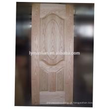 folheado de porta de madeira real ornamental porta moldada da porta