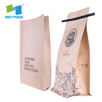 Kraft Coffee Bag Dengan Tin Tie