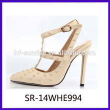 latest high heel shoes for girls sexy fashion women high heel shoes rivet ladies high heel shoes