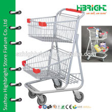 double layer shopping carts