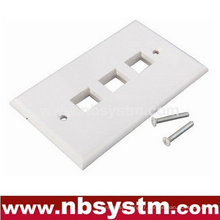 Face Plate 3 port, taille: 70x115mm