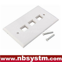 Face Plate 3 port, size:70x115mm