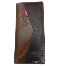 Billetera larga bifold marca popular para empresarios
