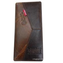 Popular brand long bifold wallet for businessmen
