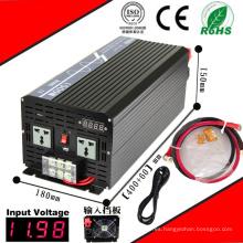1500W DC-AC inversor 12VDC o 24VDC a 110VAC o 220VAC Inversor de onda sinusoidal pura con CE Char RoHS Aprobado