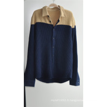 Cardigan à main tricotée à l'hiver avec fermeture à glissière