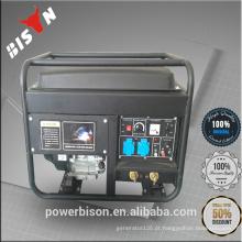 Bison China Motor de gasolina de alta qualidade de Zhejiang Barato Portable 6KW 6000W 6KVA Kohler Geradores Elétricos