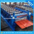 Máquina de cobertura de metal revestida de cor, linha de formação de rolo para máquina de telhado / parede