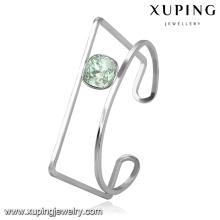 51669 brazalete de acero inoxidable con forma especial de Xuping con cristales de Swarovski