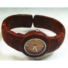 Reloj de pulsera de alta calidad Hlw048 OEM de madera y reloj de madera Bamboo Watch