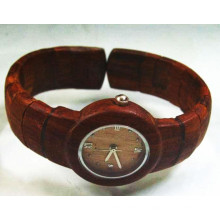 Hlw048 OEM Men′s and Women′s Wooden Watch Bamboo Watch High Quality Wrist Watch