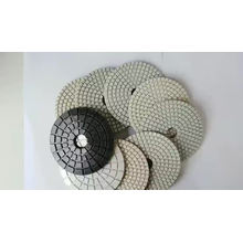 """Hot Selling 5~10"""" Dye Free 7 Inched Transitional Concrete 4 Inches Marble White Nylon Polishing Pad"""