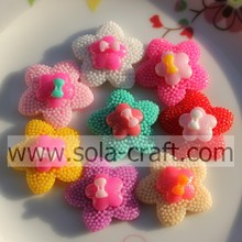 Factory Wholesale 10*28MM Lovely Flower Resin Beads