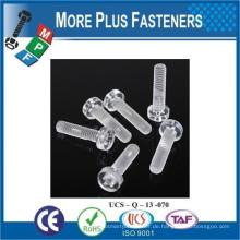 Made in Taiwan Transparente Nylon Kunststoff Schraube