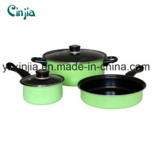 Aluminum Carbon Steel Non-Stick Cookware Set
