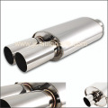UNIVERSAL 3 DUAL TIP T 304 STAINLESS STEEL MUFFLER