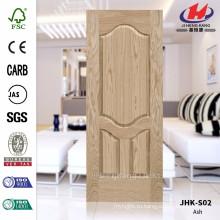 JHK-S02 Высококачественная дверная обшивка 4 мм Очень вогнутая натуральная пепельная шпонная дверь МДФ шпонированная сосна Используется в дверной панели