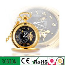 Automatic Movement Business Pocket Clock for Gift