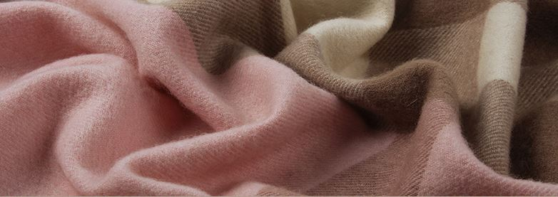 90% Wool 10% Cashmere Woven Throw -7