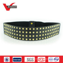 Custom Stud Fancy Ladies Wide Elastic Belts
