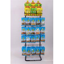 Contador de la tienda de dulces Candy 5-Layer Frutas secas Nueces Chips de patata Alambre de metal Alimentos Snack Display Rack