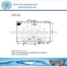 Kühler für TOYOTA 98-02 COROLLA 52474582/94856862 / 164000D030 / 164000D040 Hersteller und Direktverkauf