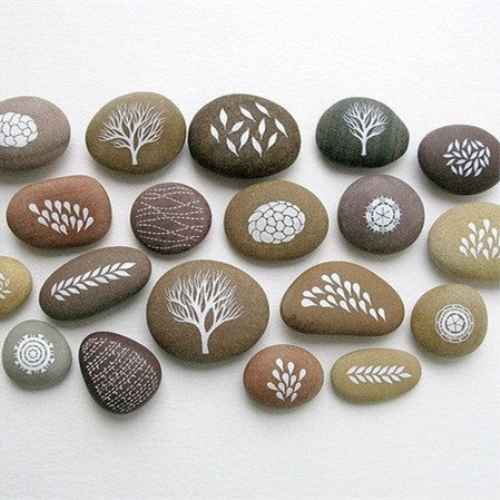 Al por mayor Palabra grabada Worry Stone Pocket Inspiration Stones