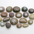 Atacado Word Worry Stone Pocket Inspiration Stones