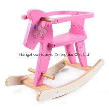 De Boa Qualidade cavalo de balanço de madeira com salvaguarda