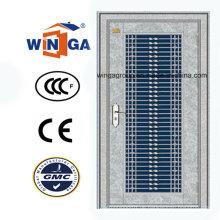 304 Edelstahl Außen Außenliegende Sonnenschutz-Sicherheitstür (W-GH-13)