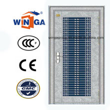 304 Stainless Steel Exterior Outside Sunproof Security Steel Door (W-GH-13)