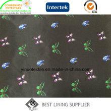 Mini doublure d'impression de polyester du motif 100% de papillon pour le vêtement des femmes
