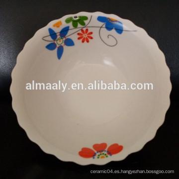 Varios tamaños y diseño barato tazón de sopa de cerámica
