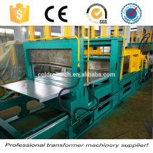 Máquina formadora de aletas onduladas para uso en tanques de transformadores