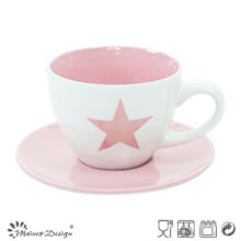 Coupe et soucoupe en porcelaine Capppuccino Couleur vive