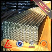 Chapa de aço ondulado folha de aço galvanizado / metal telhado