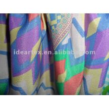 Poliéster impresso tecido de cetim para o vestido da senhora
