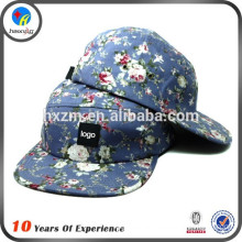 Custom Made Flat Brim 5 Panel Cap