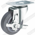 Medium Duty TPR Double Bearing Swivel Wheel Caster (Gray) G3302